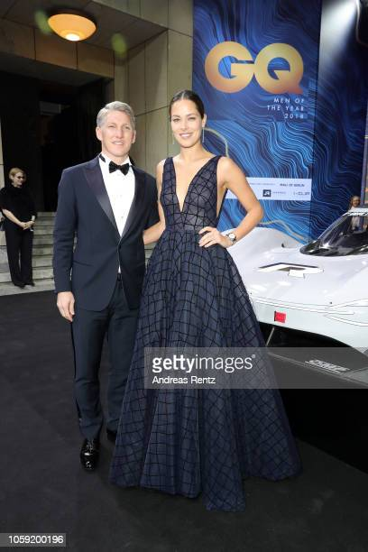Bastian Schweinsteiger and his wife Ana Schweinsteiger arrive for the 20th GQ Men of the Year Award at Komische Oper on November 8 2018 in Berlin...