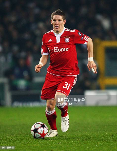 Bastian Schweinsteiger of Bayern in action during the UEFA Champions League Group A match between Juventus Turin and FC Bayern Muenchen at Stadio...