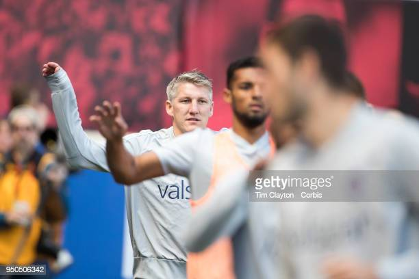 Bastian Schweinsteiger of Chicago Fire during warm up with team mates before the New York Red Bulls Vs Chicago Fire MLS regular season game at Red...