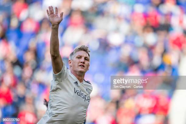 Bastian Schweinsteiger of Chicago Fire reacts during his sides 21 win during the New York Red Bulls Vs Chicago Fire MLS regular season game at Red...