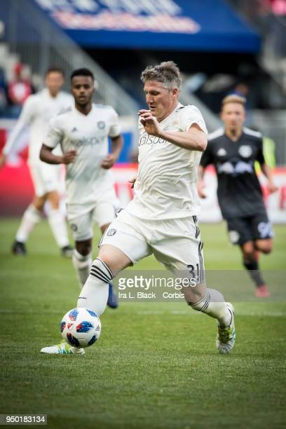 Bastian Schweinsteiger of Chicago Fire takes the fast break during the Major League Soccer match between Chicago Fire and New York Red Bulls at Red...