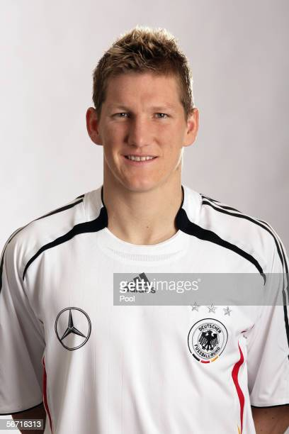 Bastian Schweinsteiger of Germany attends a photocall of the German National Football Team on January 31, 2006 in Duesseldorf, Germany.