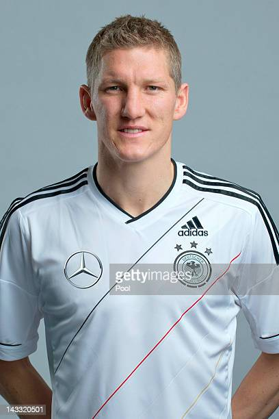 Bastian Schweinsteiger of Germany poses during a national team photocall on November 14, 2011 in Hamburg, Germany.
