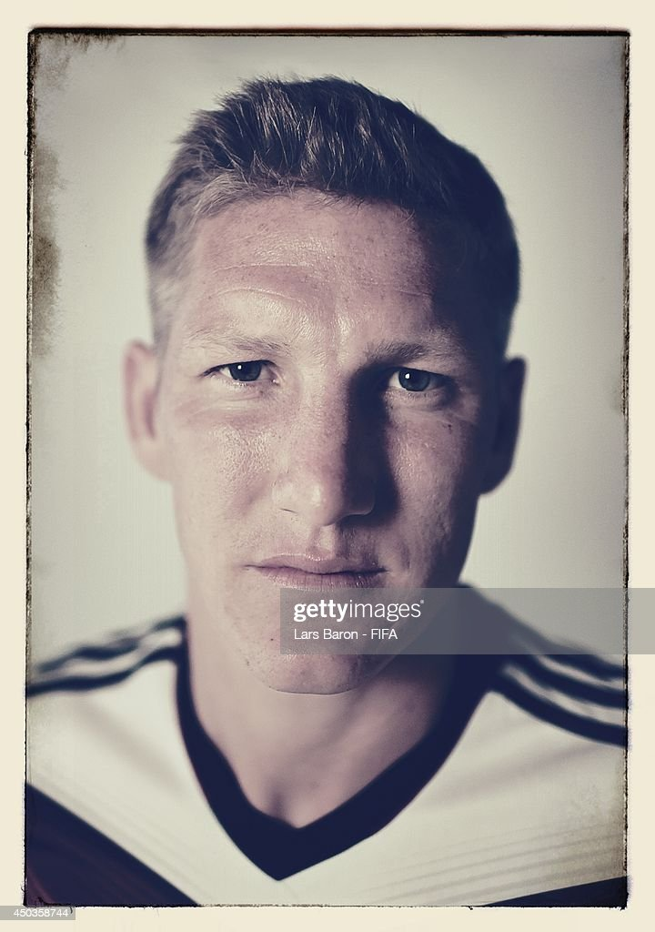 Bastian Schweinsteiger of Germany poses during the official FIFA World Cup 2014 portrait session on June 8, 2014 in Salvador, Brazil.