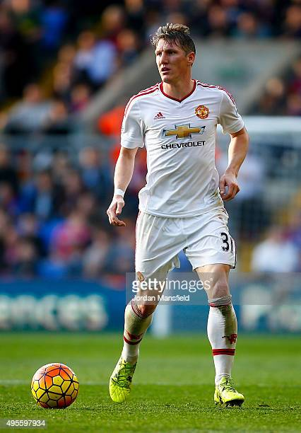 Bastian Schweinsteiger of Manchester United in action during the Barclays Premier League match between Crystal Palace and Manchester United at...