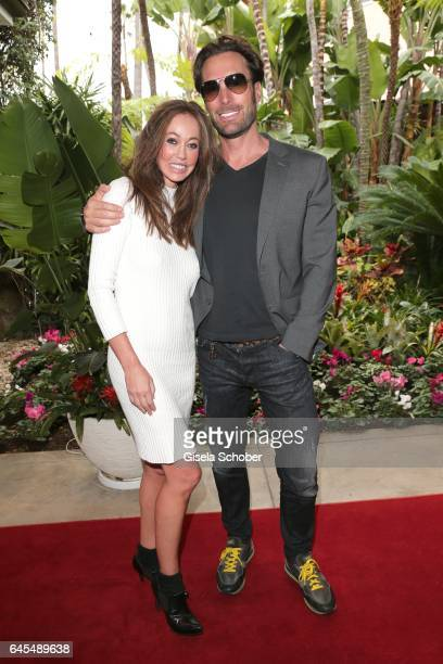 Bastian Yotta ' Mr Yotta' and his new girlfriend Melanie at the Beverly Hills Hotel on February 25 2017 in Los Angeles California