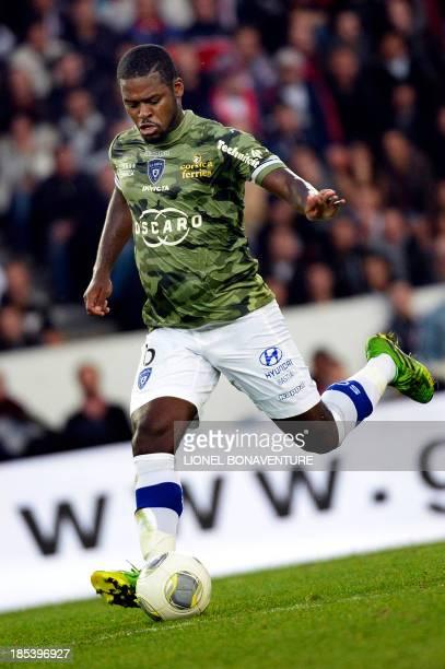 Bastia's Ivory Coast midfielder Romaric N Dri Koffi runs with the ball during the French L1 football match Paris Saint Germain against Bastia on...