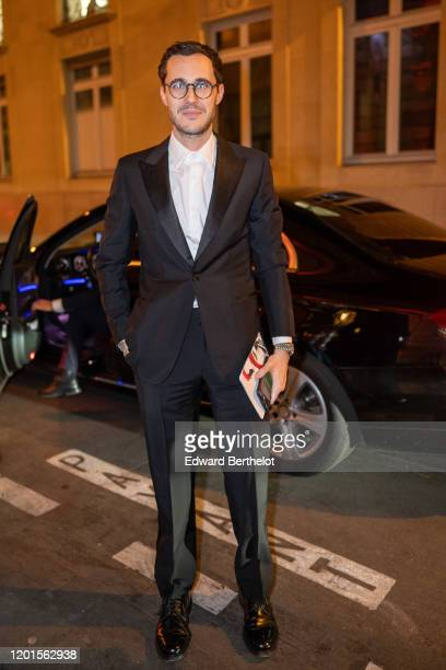 Bastien Daguzan arrives at Sidaction Gala Dinner 2020 At Pavillon Cambon on January 23 2020 in Paris France