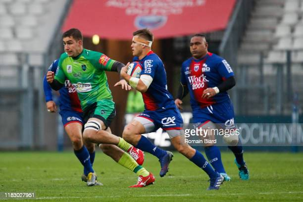 Bastien GUILLEMIN of Grenoble during the Pro D2 match between FC Grenoble Rugby and US Montauban on November 17, 2019 in Grenoble, France.