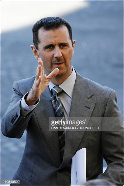 Bastille Day Parade In Paris France On July 14 2008 Bashar AlAssad