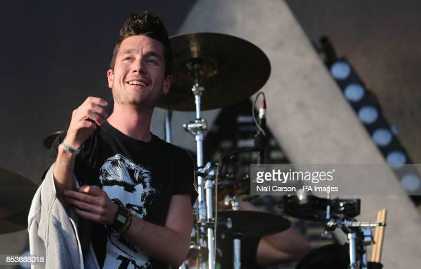 Bastille frontman Dan Smith performing at the Tennants Vital music festival at Boucher Road in Belfast