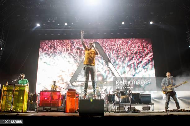 Bastille perform in concert during day 4 of Festival Internacional de Benicassim on July 22, 2018 in Benicassim, Spain.