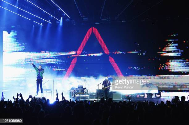 Bastille performs on stage during KROQ Absolut Almost Acoustic Christmas at The Forum on December 9 2018 in Inglewood California