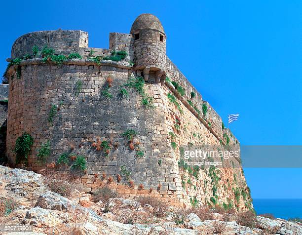Bastion walls the Fortezza Rethymnon Crete Greece The Fortezza is a fortress built by the Venetians who ruled Crete from 1204 until the Ottoman Turks...