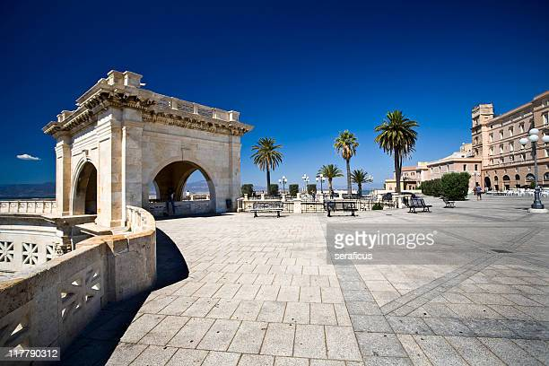 bastione saint remy, cagliari - cagliari stock pictures, royalty-free photos & images