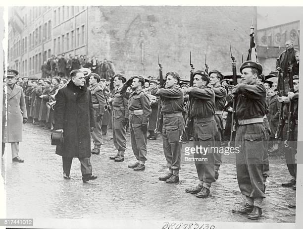 Croix De Guerre For Bastogne The Belgian city of Bastogne scene of Von Rundstedt's powerful assault in December 1944 was awarded the Croix De Guerre...