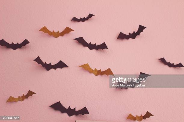 Bat Decorations On Wall During Halloween