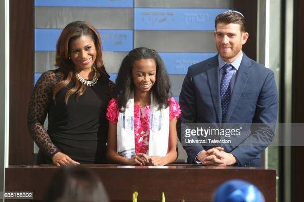 PROJECT 'Bat Mitzvah' Episode 509 Pictured Kimrie LewisDavis as Patricia Brianna Reed as Lindsay Bryan Greenberg as Ben