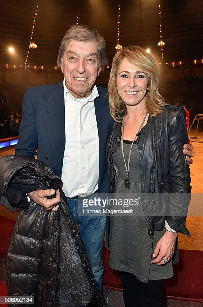 Bata Illic and Gundis Zambo during the premiere of the Circus Krone program 'Circus der Preistraeger' at Circus Krone on February 2 2016 in Munich...