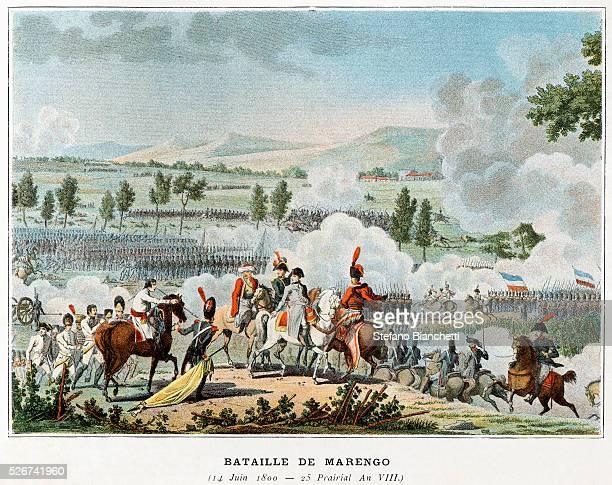 Bataille de Marengo Illustration in Victoires et Conquetes des Armees Francaises