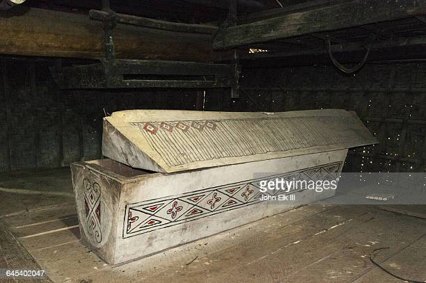 batak house of king pematang purba, coffin - open casket stock pictures, royalty-free photos & images