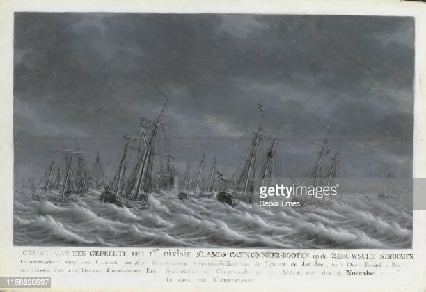 Batavian Fleet before Veere, 9 November 1800, The Netherlands, Engel Hoogerheyden, 1800 - 1809