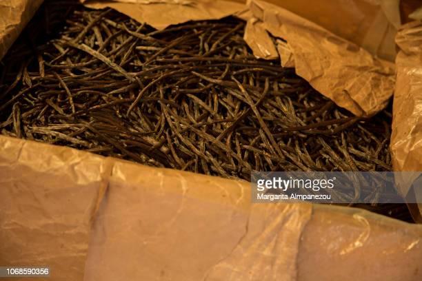 Batches of vanilla spice in Reunion Island