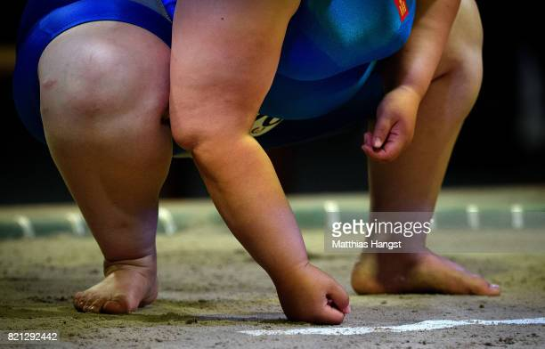 Batchimeg Baast of Monglia seen during the Sumo Open Weight Women's Competition of The World Games at Orbita Hall on July 23 2017 in Wroclaw Poland