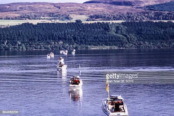 Bateau de l'Operation Deepscan pour la recherche du monstre du Loch Ness en octobre 1987 RoyaumeUni