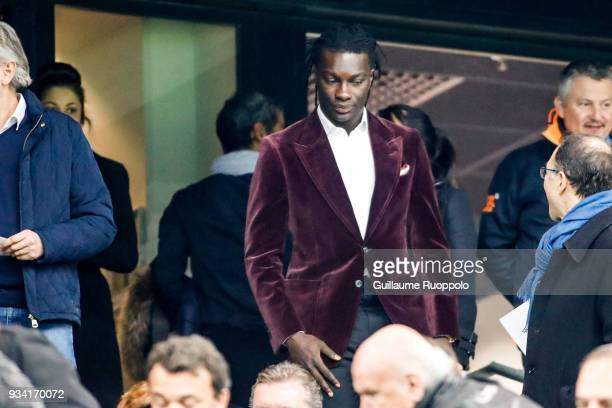 Batefimi Gomis during the Ligue 1 match between Olympique Marseille and Lyon at Stade Velodrome on March 18 2018 in Marseille