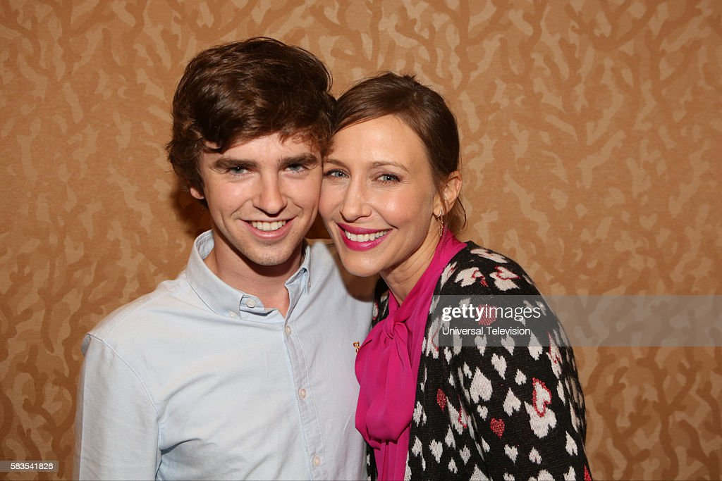 SAN DIEGO 2016 -- 'Bates Motel' Red Carpet -- Pictured: (l-r) Freddie Highmore, Vera Farmiga, Friday, July 22, 2016, from the Hilton Bayfront, San Diego, Calif. --