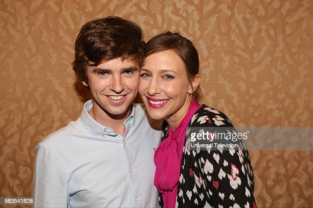 DIEGO 2016 'Bates Motel' Red Carpet Pictured Freddie Highmore Vera Farmiga Friday July 22 from the Hilton Bayfront San Diego Calif