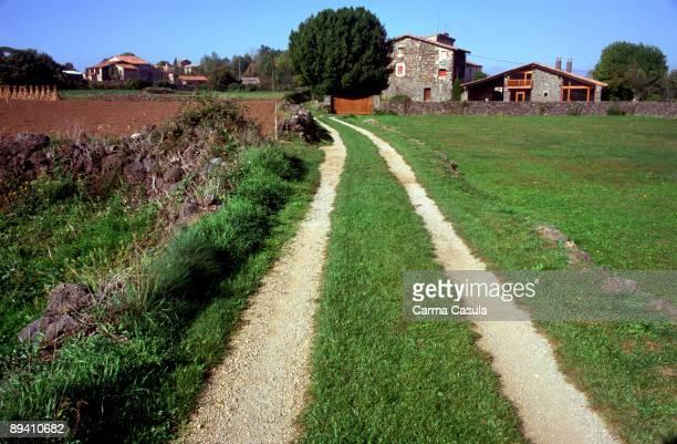 Batet de la SerraGirona Cataluna Paths between cropings and Fields houses