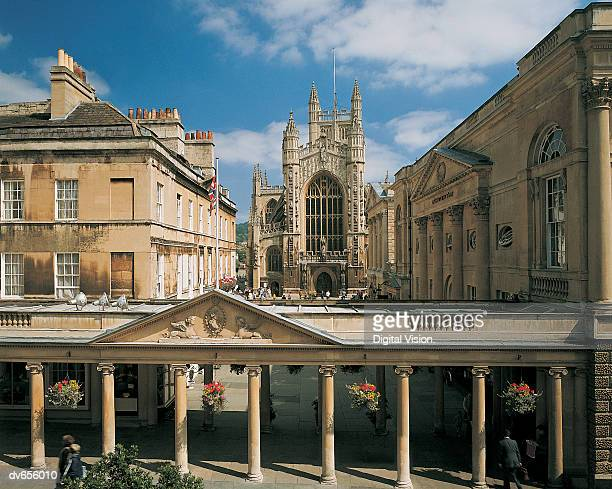 bath abbey, bath, england - 英イングランド バース ストックフォトと画像