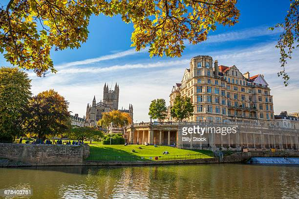 bath abbey, bath, unesco world heritage site, avon, somerset, england, united kingdom, europe - 英イングランド バース ストックフォトと画像