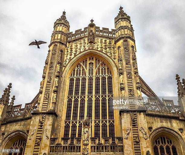 bath abbey - rob castro stock pictures, royalty-free photos & images