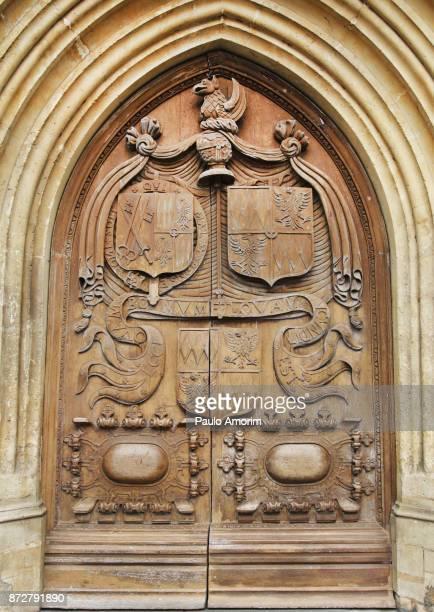 Bath Abbey West Doors in England