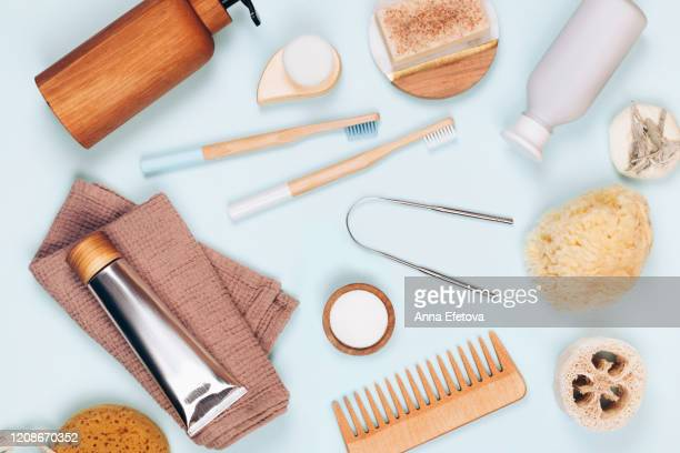bath accessories set for home - cosmetics stock pictures, royalty-free photos & images