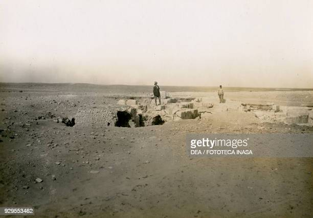 Bath building south of the Italian fort photographed from the east archaeological site of ancient Pisida or Pisindon Bu Kemmesh Libya photograph by...