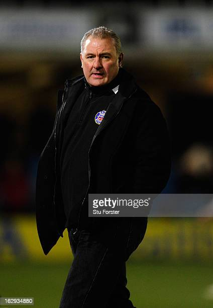 Bath coach Gary Gold looks on before the Aviva Premiership match between Bath and Gloucester at Recreation Ground on March 1 2013 in Bath England