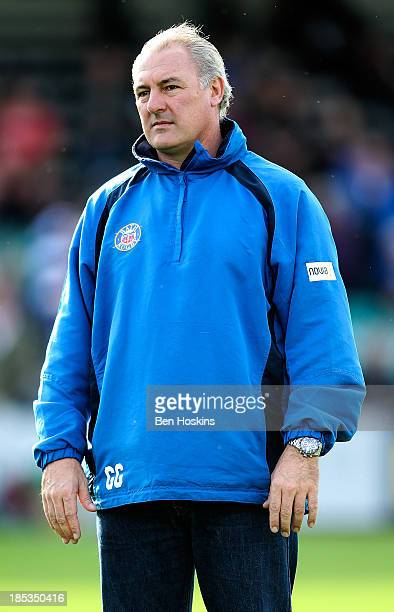 Bath head coach Gary Gold looks on prior to the Amlin Challenge Cup match between Bath and Newport Gwent Dragons at Recreation Ground on October 19...