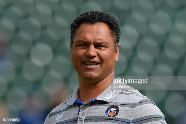 Bath head coach Tabai Matson look before the Aviva Premiership match between Bath Rugby and Newcastle Falcons at Recreation Ground on September 10...