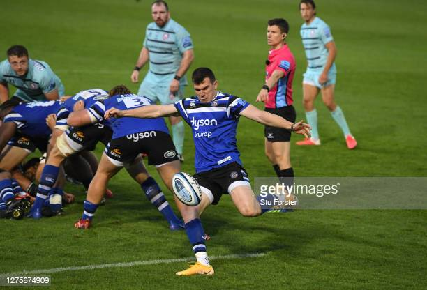 Bath player Ben Spencer in action during the Gallagher Premiership Rugby match between Bath Rugby and Gloucester Rugby at The Rec on September 22...
