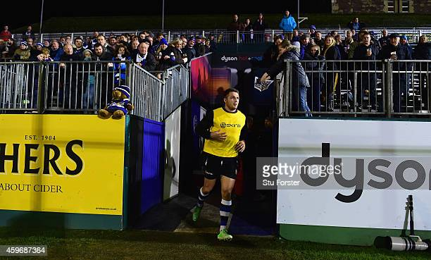 Bath player Sam Burgess emerges from the tunnel for the warm up before the Aviva Premiership match between Bath Rugby and Harlequins at Recreation...