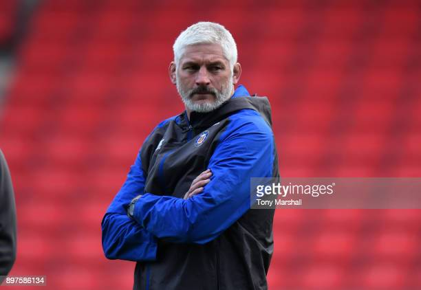 Bath Rugby Director of Rugby Todd Blackadder during the Aviva Premiership match between Sale Sharks and Bath Rugby at AJ Bell Stadium on December 23...