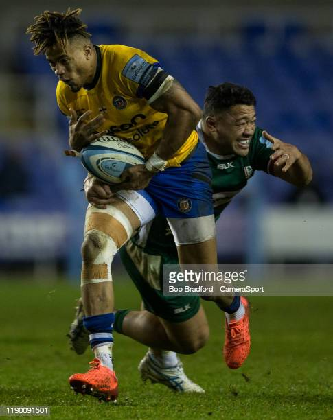 Bath Rugby's Anthony Watson in action during the Gallagher Premiership Rugby match between London Irish and Bath Rugby at on December 22 2019 in...