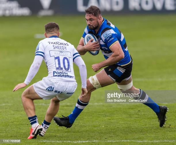 Bath Rugby's Elliott Stooke in action during the Gallagher Premiership Rugby match between Bath and Bristol at The Recreation Ground on May 8, 2021...