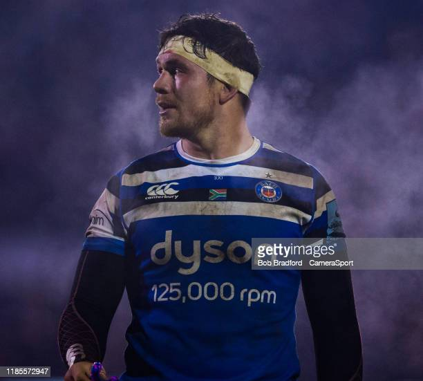 Bath Rugby's Francois Louw during the Gallagher Premiership Rugby match between Bath Rugby and Saracens at on November 29 2019 in Bath England