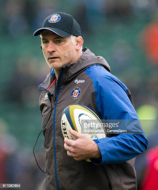 Bath Rugby's Head Coach Todd Blackadder during the Anglo Welsh Cup Round Three match between Bath Rugby and Newcastle Falcons at Recreation Ground on...