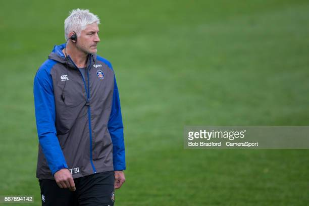 Bath Rugby's Head Coach Todd Blackadder during the Aviva Premiership match between Bath Rugby and Gloucester Rugby at Recreation Ground on October 29...